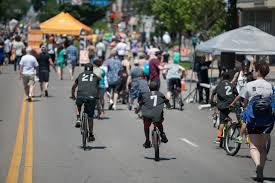 Open streets in the USA