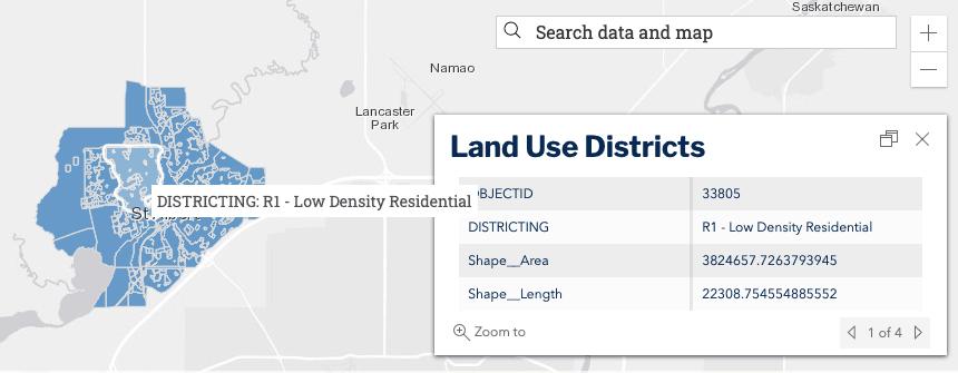 St Albert open data screenshot