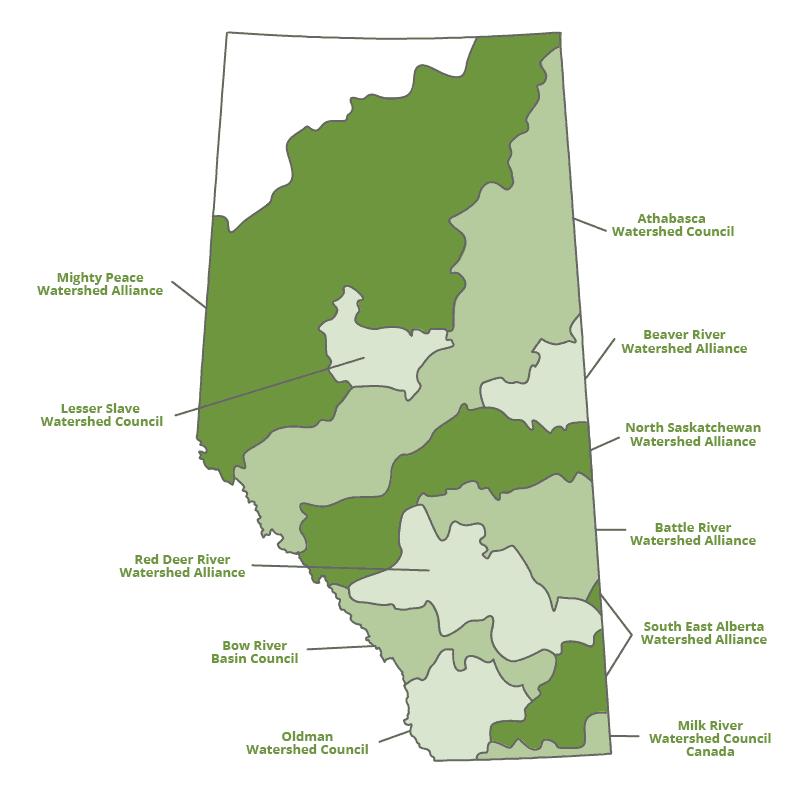 WPACs in Alberta map
