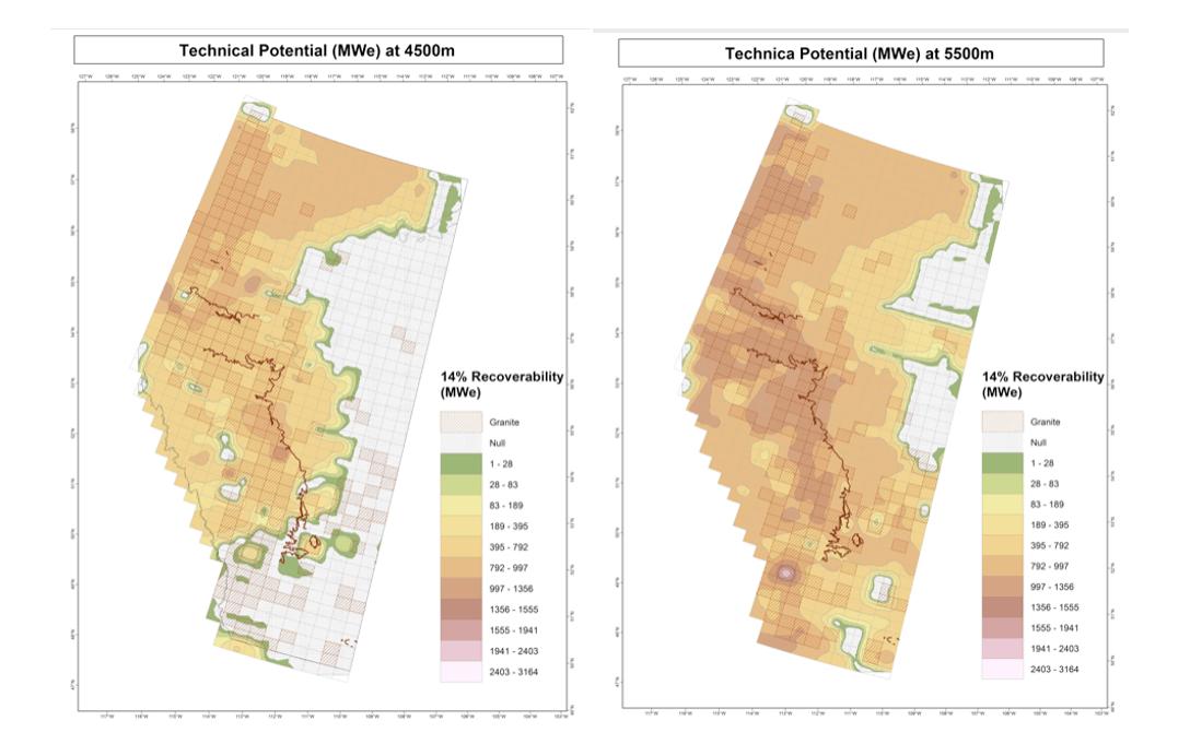 Geothermal potential in Alberta