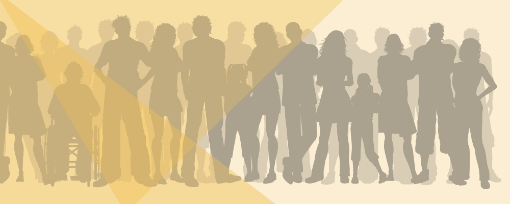 Banner of people